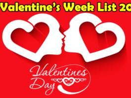 valentine week days list 2018 valentine day 2018