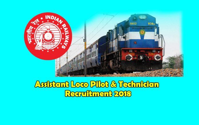 assistant loco pilot and technician recruitment 2018