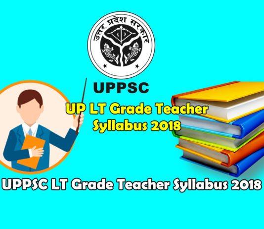 UP LT Grade Teacher Syllabus 2018