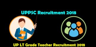 UP LT Grade Teacher Recruitment 2018