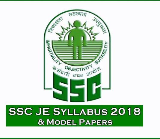 SSC JE Syllabus 2018