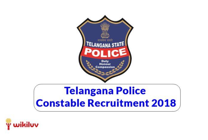 telangana police constable recruitment 2018