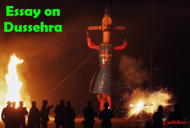 dussehra essay in hindi